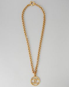Chanel Vintage Rope Twist CC Necklace