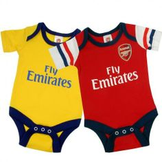 5aa279a8c Amazon.com  Arsenal FC Authentic Baby Onesies 2 Pack Y (3-6 Months)  Baby