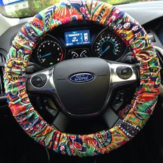 aztec tribal car accessories mix and match personalized car mats steering wheel cover seat belt. Black Bedroom Furniture Sets. Home Design Ideas
