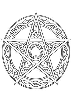 Gothic Architecture Coloring Pages Awesome Wiccan Pentagram Super Coloring – Coloring Books Gallery Witch Coloring Pages, Printable Adult Coloring Pages, Free Coloring Pages, Coloring Books, Maya Art, Wiccan Crafts, Celtic Art, Book Of Shadows, Tarot