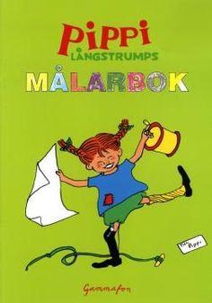 Pippis målarbok, skriv ut och färglägg fina Pippi-bilder.