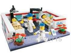 Livraison gratuite!*hospital ensembles. 5* bricolage. éclairer briques bloc, compatible avec d'autres particules assemble