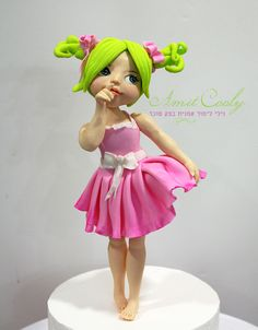 Little girl cake topper