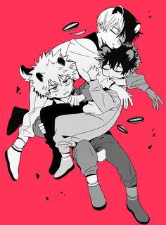 My Hero Academia (Boku No Hero Academia) #Anime #Manga Todoroki Shouto,  Midoriya Izuku, and  Katsuki Bakugou