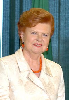 Vaira Vike-Freiberga, President of Latvia....wow I 'm learning allot about Latvia. Beautiful people and country! Go there! Put it on your bucket list or you miss Heaven!