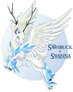[Adopt] Winter Sawsbuck X Swanna [Closed] by Seoxys6 on DeviantArt