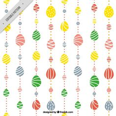 Cute Easter eggs bands pattern Free Vector
