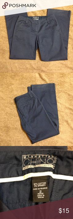 Ladies petite pants Ladies pants - Navy blue- legs are flare at bottom - Petite size small- great condition Pants Wide Leg