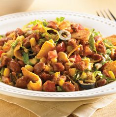 Corn Chip Chili Salad tastes a little like walking tacos! Yum!