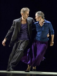 "Ana Laguna and Mikhail Baryshnikov dance Mats Ek's ""Place"" (photo by Bengt Wanselius via Pointe Magazine)."