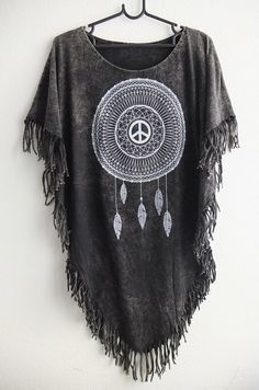 Indian Dream Catcher Feathers Fashion Women's Poncho Long T-Shirt Dress  #Unbranded #Poncho