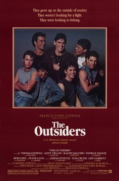 Watch full length the outsiders movie for free online. The full outsiders movie. From the moment the film began, toshi was onboard. The Outsiders Full Movie, The Outsiders 1983, Classic 80s Movies, Great Movies, Vintage Movies, Vintage Posters, Throwback Movies, Awesome Movies, Movie Posters