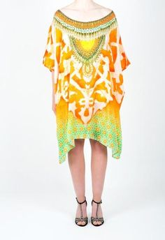 Embellished Kaftan Dress Design Kc K191 S