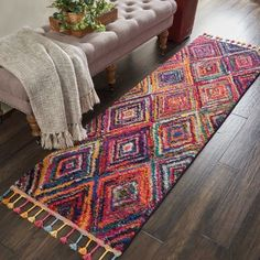 Nourison Moroccan Casbah Plush Bohemian Red/Multicolor Shag Area Rug Runner x Area Rug Runners, Runner Rugs, Indoor Rugs, Tribal Rug, Bohemian Rug, Area Rugs, Decoration, Size 2, Rug Size