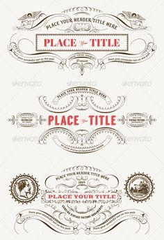 "Vintage Vector Labels perfect to design wedding invitations, elegant stationeries, menus and products labels. Fully Scalable Vectors, easy to edit and adapt to your needs. A list of the fonts we have used is included (most of these fonts are free). So you can download the fonts and change the text to your needs.  	 All the Ornaments are vectorized BY HAND from a authentic type foundry catalog from the Victorian era. The ""Specimen Album"" catalog, by the Charles Derriey French type foundry"