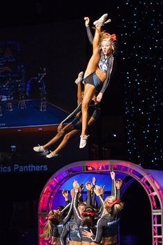 Cheer Athletics Panthers Carly Manning, perfect basket
