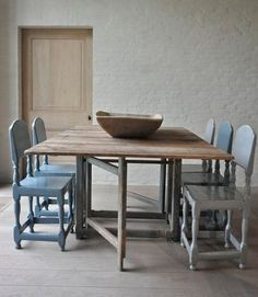 The Drill Hall Emporium: Swedish slagbord tables and simple Swedish style