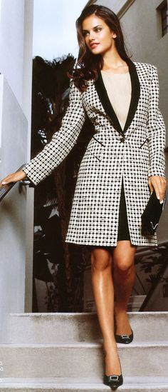 Alessandra Ambrosio. Makes me want to wear a day coat in public... Oooh...or my formal jacket!!