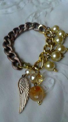 cadenas y perlas de vidrio
