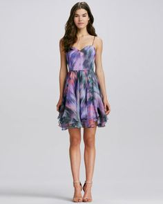 Women's Milly Gemma Printed Silk Dress    $445.00