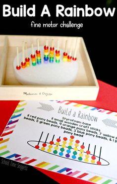 Build A Rainbow Activity for Preschool