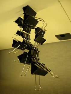 Office Sculpture | Community Post: 54 Uses For Binder Clips That Will Change Your Life