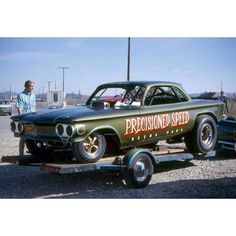 Precisioned Speed Chevrolet Corvair funny car.