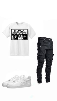 Teen Swag Outfits, Dope Outfits For Guys, Stylish Mens Outfits, Cool Outfits, Casual Outfits, Hype Clothing, Mens Clothing Styles, Rapper Outfits, Teenage Boy Fashion