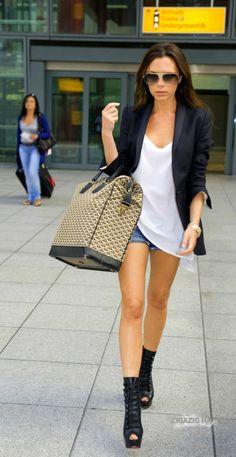 Victoria Beckham's Goyard overnight bag