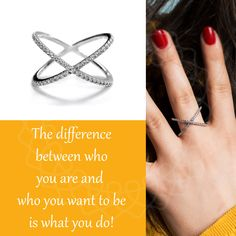The difference between who you are and who you want to be is what you do! 925 Silver, Passion, Jewelry, Crosses, Schmuck, Jewlery, Jewerly, Jewels, Jewelery