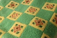 Pin Weave Hand Loomed Blanket with Cross by PythagorasPlace