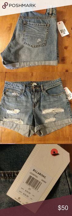 BRAND NEW BILLABONG SHORTS BRAND NEW!! Lightweight denim. High waist fit. Perfect for summer time beach trips, concerts, and everything in between! Billabong Shorts Jean Shorts