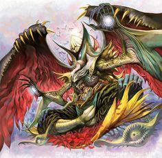 Ittoku's Oekaki Fantasy Beasts, Fantasy Art, Aliens, Monster Design, Arte Horror, Angels And Demons, Inspiration For Kids, Character Drawing, Game Art