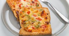 طريقة عمل البيتزا بالتوست - Pizza toast recipe