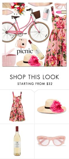 """""""Picnic in the Park"""" by danielle-487 on Polyvore featuring Dolce&Gabbana, Eugenia Kim, Ganni, Couture Colour and Fujifilm"""