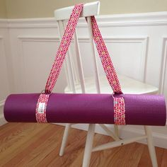 Transport your yoga mat in style. This yoga mat strap is made with a very…