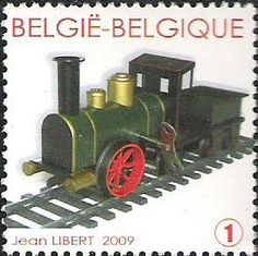 "belgian stamps Trains in miniature. 'Loco Tender ""Strochenbein"" - Marklin 1998'"