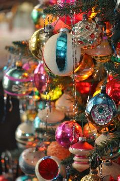 Colorful Christmas Ornaments - Love More