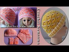 كروشيه طاقية للبنوتات الصغار // How to crochet a girl baby hat Crochet Dress Girl, Baby Hats, Girls Dresses, Crochet Hats, Beanie, Youtube, 3d, Fashion, Crochet Flowers