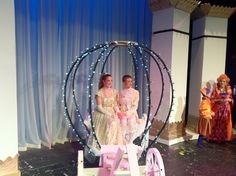 Cinderella carriage ... by Craig Morgan. Lights with tulle added later