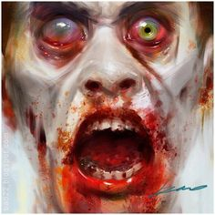 Kinda has a zombie clown look happening.double the terrifying Easy Halloween Decorations, Halloween Make Up, Halloween Crafts, Halloween Zombie, Halloween Party, Arte Horror, Horror Art, Photomontage, Zombies