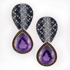 Patina Gallery Atelier Zobel MZ-1-0540 Amethyst (75.05 ct), Black Diamonds (8.74 ct), Champagne Colored Diamonds (0.52 ct), Oxidized Silver, 22 and 18k Gold, Platinum
