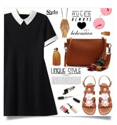 """Unique style, Shein!"" by samra-bv ❤ liked on Polyvore featuring Ray-Ban, Lizzie Fortunato and Design Lab"