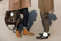 On the Street…..Fashion in Detail, Pitti Uomo « The Sartorialist Feb 2013. I wouldn't have left my white socks so prominent, but it works here