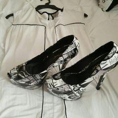 Magazine heels Magazine black and white heels Shoes Heels