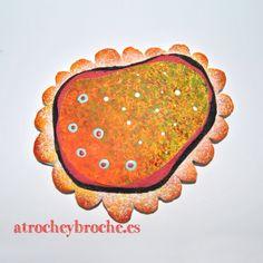 Broche de arcilla polimérica con técnicas mixtas #polymerclay #polyclay