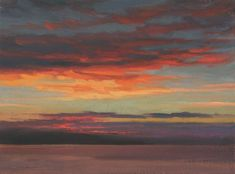 Evening Sky Study, painting of sky at sunset, Broughty Ferry
