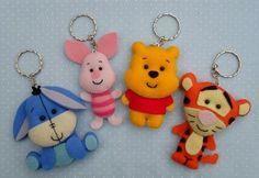 Winnie de pooh y sus amigos en fieltro