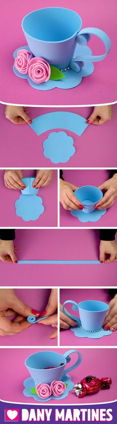 DIY Nette Xicara Do it Yourself Dany Martines - Meine Ideen, DIY Nette Xicara Do it Yourself Dany Martines - Meine Ideen. Easter Crafts, Craft Projects, Crafts For Kids, Projects To Try, Foam Crafts, Diy Arts And Crafts, Diy Y Manualidades, Mothers Day Crafts, Spring Crafts