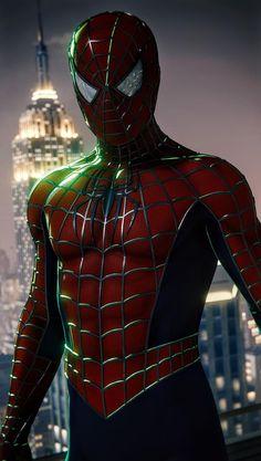 Spiderman 2002, Spiderman Suits, Spiderman Cosplay, Amazing Spiderman, Mcu Marvel, Marvel Comics Art, Marvel Heroes, Iron Man Fan Art, Mundo Marvel